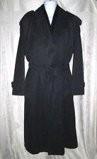 ERMENEGILDO ZEGNA Black Trench Coat with Removable Vest Liner 50 44 $1200