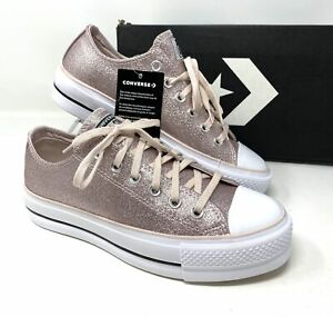 Converse Chuck Taylor AS LIFT Low Glitter Pink Women's Platform 569378C