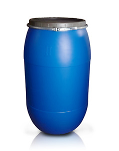 Plastic barrel 120L Clamp Ring Water Storage Container Drum Keg Stock Tank
