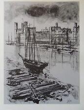 Guily JOFFRIN - Port de Londres  - gravure signée #322ex + justificatif