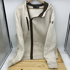 USED 2XL Tall Under Armour Off Center Full Zipper Fleece Jacket