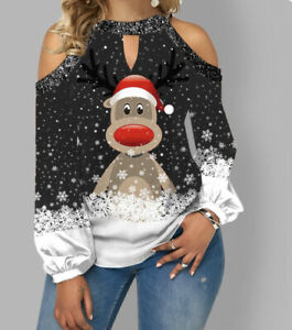 Ladies Christmas Reindeer Top Size 5xl To Fit 18-20 New In Packaging