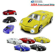 3D 2.4Ghz Wireless Optical Mouse Car Shape Computer Laptop Mice +USB Receiver US