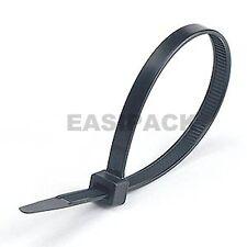 100 x (300mm x 4.8mm) CABLE TIES zip tie wraps - BLACK