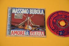 CD (NO LP ) MASSIMO BUBOLA AMORE & GUERRA 1°ST ORIG 1996 CON LIBRETTO EX