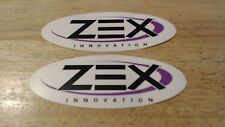 "2 ZEX Nitrous Oxide Stickers / Decals 6"" NHRA NOS Racing NASCAR Import JDM Ford"