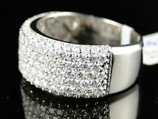 14K Mens White Gold Pinky 10Mm Diamond Band Ring 3 Ct