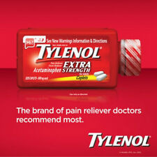 Tylenol Extra Strength Acetaminophen 500 Mg 325 Caplets Pain Reliever Fever