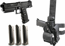 TiPX Deluxe Paintball Pistol Kit Gun TPX 3 Mags Clips Genuine Tippmann W/Holster