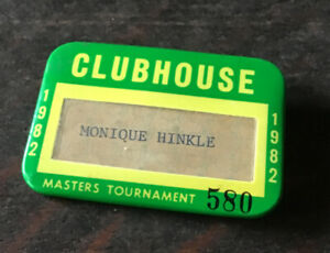 1982 MASTERS  Golf Tournament Clubhouse Pin Badge of a Player's Wife Hinkle
