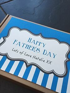 1 Personalised Fathers day Retro/traditional Sweet/Chocolate Box, Gift, Present