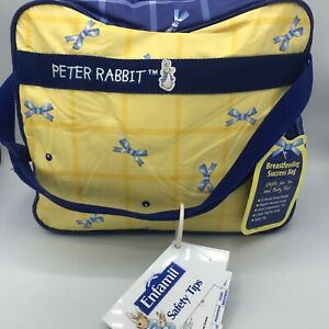 Vintage Peter Rabbit Insulated Baby Diaper & Bottle Breastfeeding Bag New