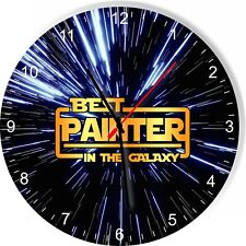 Best Painter in the Star Galaxy Wars Space Kitchen Living room Wall Clock