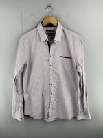 Politix Men's Long Sleeve Button Up Shirt Size L White