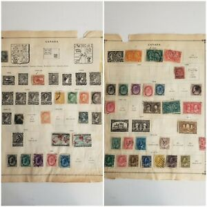 1864-1918 Canada stamp collection on 2 pages - mint and used - please see photos