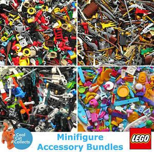 Genuine LEGO Minifigure Mixed Accessory Packs x 25 - Themed Random Bundles