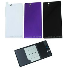 For Sony Xperia Series Rear Battery Back Housing Glass Cover Black With Adhesive