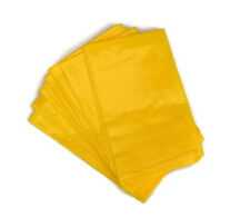10 Plastic Sick Vomit Motion Travel Sickness Bags - Yellow Disposable