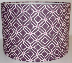 Sanderson Fretwork Plum Drum Lampshade 20/30/40cm