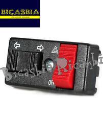 5752 - COMMUTATORE DEVIO FRECCE CON EMERGENZA VESPA 125 150 200 PX FRENO A DISCO
