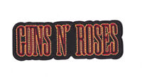 GUNS N ROSES RED BLACK LOGO Iron on / Sew on Patch Embroidered Badge Music PT125