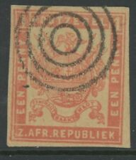 Transvaal, Used, #61, Great Bulls Eye Cancel, Sound & Centered