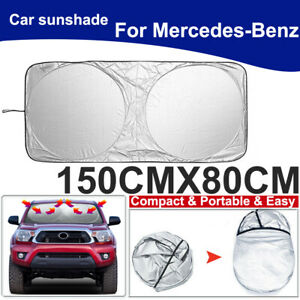 For Mercedes Benz Car Windshield Sun Shade UV Block Window Heat Shield 150x80CM