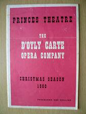 D'Oyly Carte's GILBERT & SULLIVAN OPERA-THE GONDOLIERS by W S Gilber: 1960 Xmas