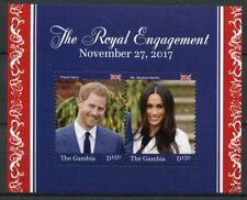 Gambia 2018 MNH Prince Harry & Meghan Royal Engagement 2v S/S Royalty Stamps