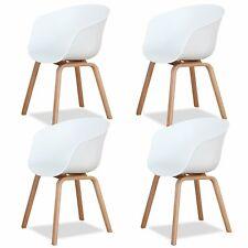 4er Esszimmerstühle Wohnzimmerstuhl Sessel Moderne Küche/Bar Polypropylen Weiß