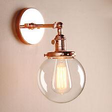"5.9"" DECOR VINTAGE INDUSTRIAL WALL LAMP SCONCE GLOBE GLASS SHADE LOFT WALL LIGHT"