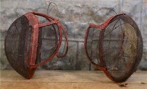 2 Fencing Face Masks, Epee Face Shield Guard, Vintage Sword Fighting Fencing,