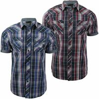 Mens Check Shirt by Dissident 'Valencia' Short Sleeved