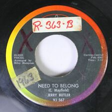 50'S / 60'S 45 Jerry Butler - Need To Belong / Give Me Your Love On Vee Jay