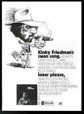 1975 Kinky Friedman photo debut album release trade print ad