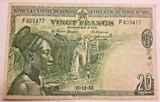 20 Francs 1953 Model 1952 Belgisch Congo belge LA# BRB-5