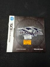 Nintendo DS Heroes of Mania Instruction Booklet ONLY