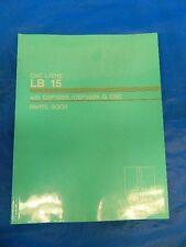 Okuma Lb 15 Cnc Lathe Osp5020L Parts Book Kle15-367-R4