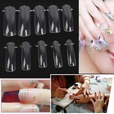 100Pcs Dual Nail Form UV Gel Acrylic False Tips Salon Tools with Box Hot YAAU