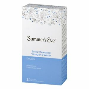 Summer's Eve Douche, Extra Cleansing with Vinegar & Water( 2 bottles 133ml each)