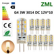 10pcs G4 LED 3W 24*3014SMD Warm White Light Bulb Halogen 220LM 360°Beam DC 12V