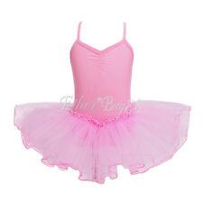 Girls Gymnastics Leotard Dress Ballet Leotard Dance Tutu Skirt Dancewear Costume