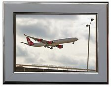 "VIRGIN ATLANTIC AIRBUS A340   7"" X 5"" FRAMED PHOTOGRAPH (WSF19P)"