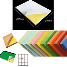 Self Adhesive Color A4 Paper Printable Sticky Sticker Label Glossy Matt Lot New