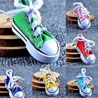 1pc Canvas Cool Top Sneaker Tennis Shoes Key Chain Ring Keyring Women Man USLM