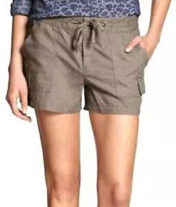 Banana Republic Women's Size 10 Tan Cargo Linen Blend Shorts NEW