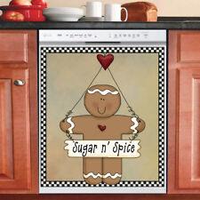 Beautiful Cute Decor Kitchen Dishwasher Magnet - Country Prim Gingerbread Man