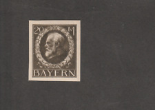 GERMANY BAYERN 1914 KING LUDWIG 20 MK IMPERF MINT MICHEL # 109 I U CV EURO 90
