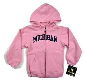 M-Den Licensed Michigan Wolverines Little Girls Full-Zip Hoodie NWT $25 6/6X