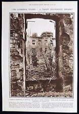 DESTRUCTION OF REIMS / RHEIMS CATHEDRAL FIRST WORLD WAR WW1 PHOTO ARTICLE 1915